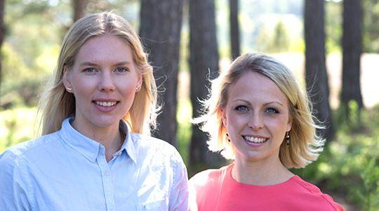 Studenthandläggarna Anna Karin Ulander och Sara Both