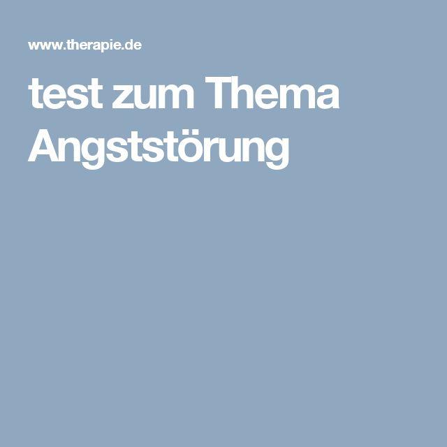 test zum Thema Angststörung