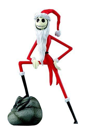 """Disney Magical Collection #113 Nightmare Before Christmas Jack Skellington Santa Ver. Figure by Tomy. $12.95. Cute, prepainted PVC figure of Jack, from """"The Nightmare Before Christmas"""", as Santa Claus. Comes with a figure stand."""