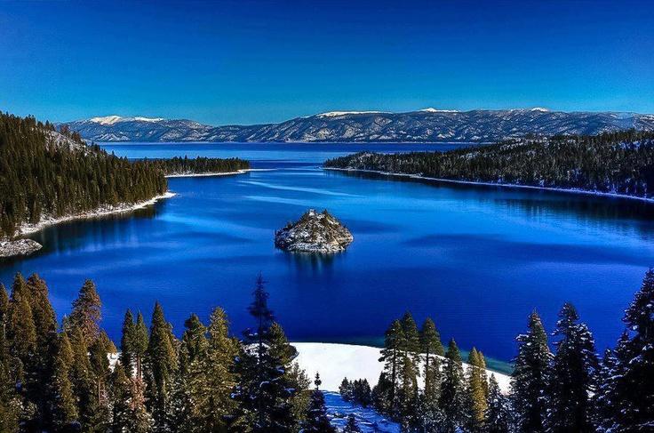 Tranquil Emerald Bay, South Lake Tahoe, California, USA
