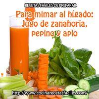 ¡Calma tu hígado con jugo! Este jugo combina las propiedades de tres vegetales que, combinados, resultan muy sabrosos y sanos.