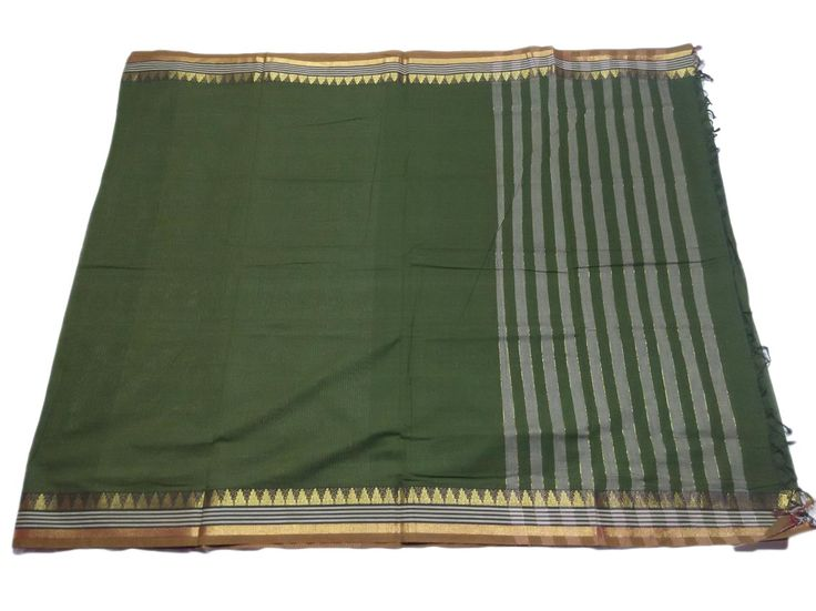 These pure cotton sarees are 6.10 meters long, with an 70 cm blouse piece attached in the running material. Blouse piece is the same design as the saree and is in the running material.   The saree is available on Prepaid as well as Cash on Delivery mode of payment. The price mentioned includes all