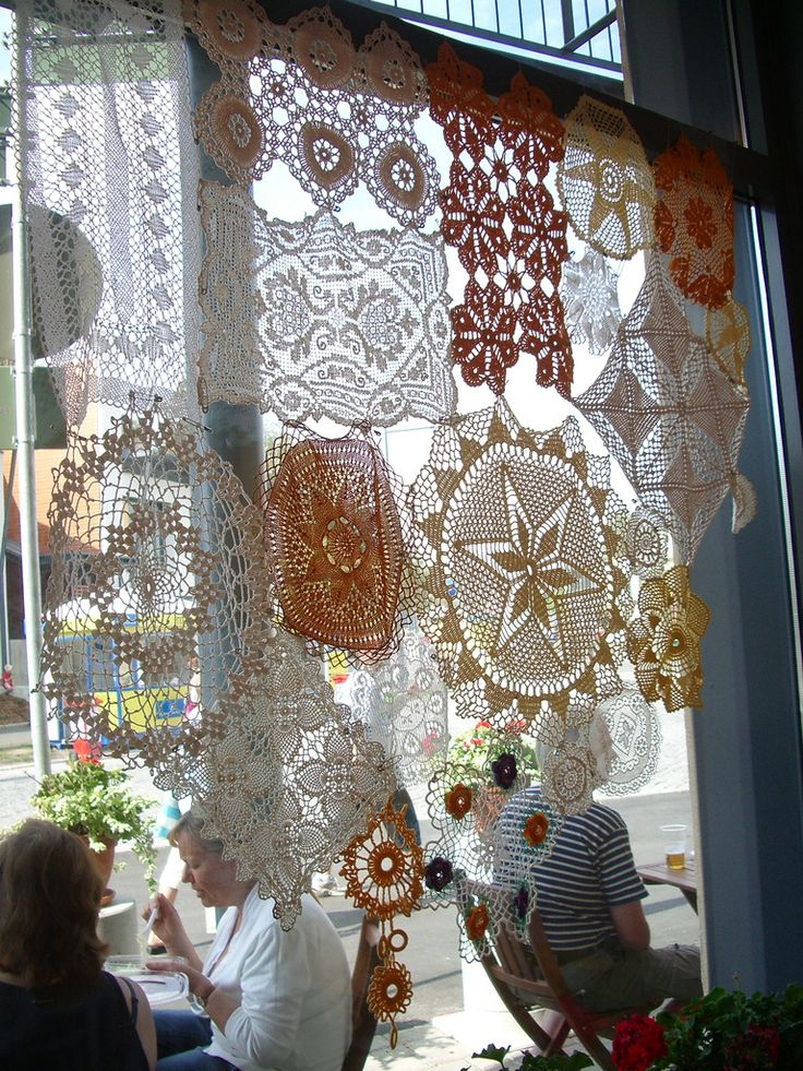 I'm working on something similar! Starting from scratch, crocheting each doily myself.