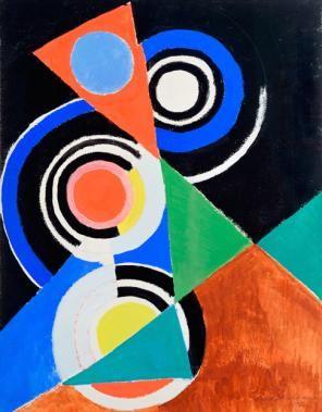Sonia Delaunay. Composition pour jazz, 2e série, No F 344, Paris 1952 (© Pracusa 2013057, © Courtesy Galerie Zlotowski, Paris)