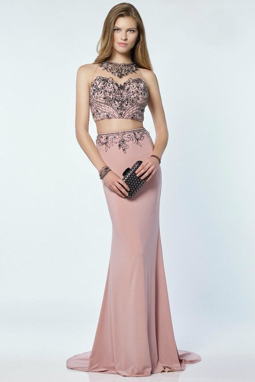 42d5355c9e8 Alyce Paris Prom Collection - 6713 Long Prom Dress  Gown (Two piece with a  jersey skirt embellished at the waist