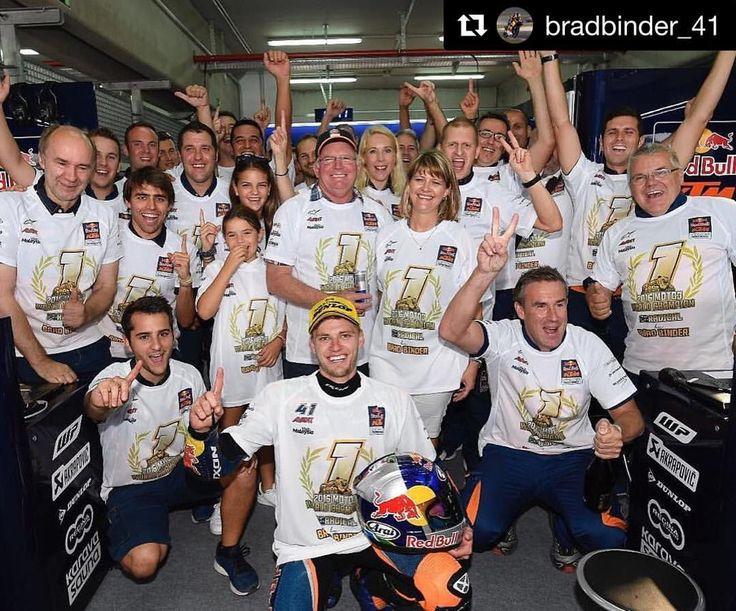 Brad Binder #41 is the new #moto3 champion!