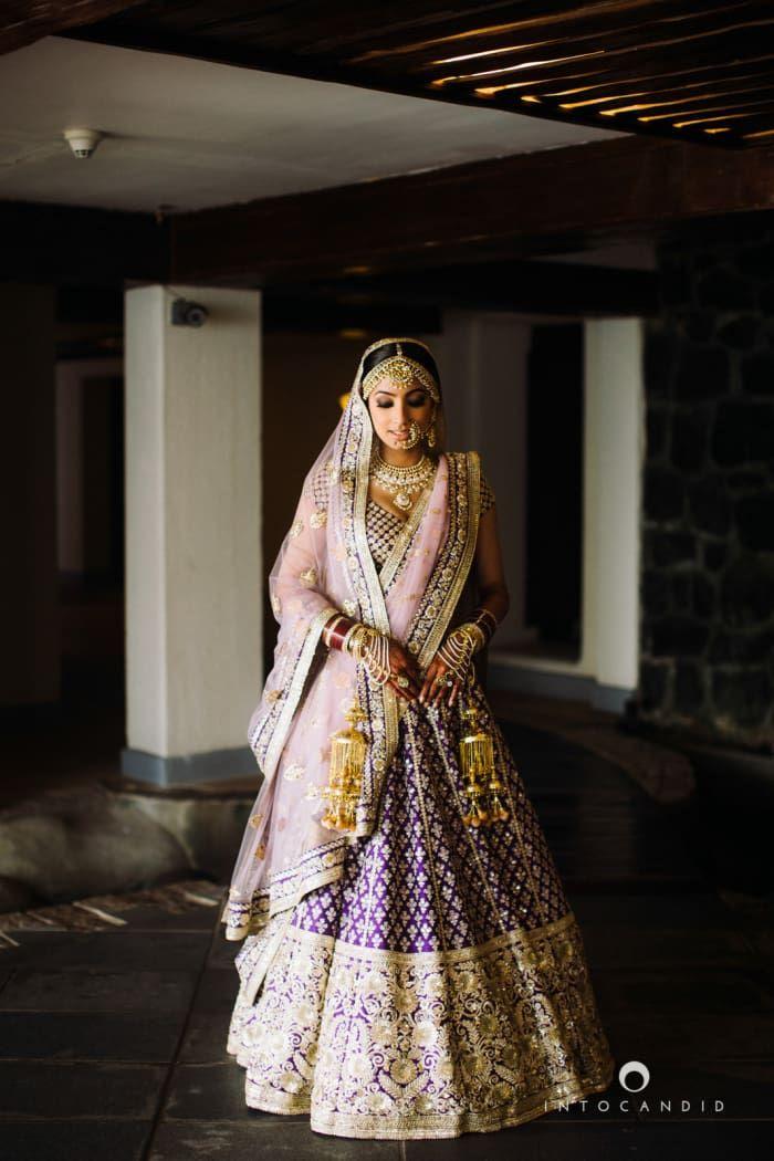 Bridal Wear - The Bride Roshni! Photos, Punjabi Culture, Black Color, Bridal Makeup, Mangtika, Polki Kundan Jewellery pictures, images, vendor credits - Into Candid Photography, WeddingPlz