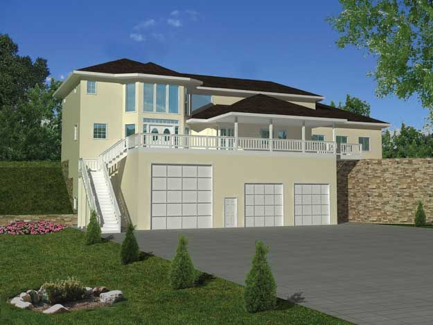 Contemporary house plan with 2717 square feet 2 bedroom for Rv square footage