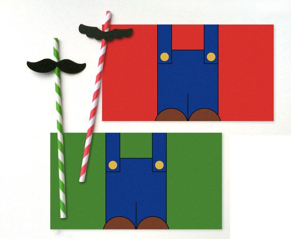 Mustache Straws w/ #Mario & Luigi Bottle by #characterdrinks whirligigspartyco, $9.00