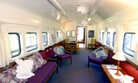 Spend the night in a fully-restored Red Rattler train cabin. Carriageway Hotel in Dungog, NSW Australia