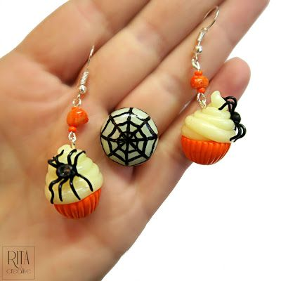 halloween jewelry polymer clay