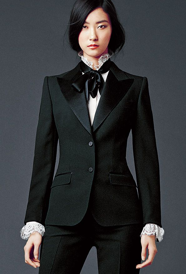 Black suite Dolce & Gabbana Woman's Apparel - Collection Fall Winter 2014 2015
