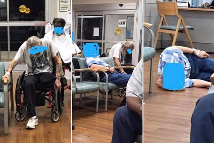 Photos of elderly veterans in extreme pain waiting for treatment at a VA hospital in Durham, North Carolina, are going viral.