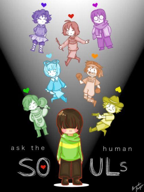 The Human Souls | Undertale, Undertale souls, Anime undertale