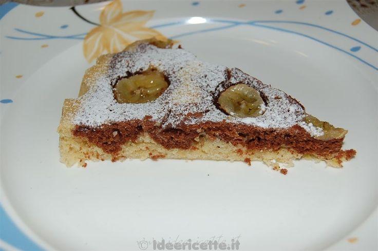 Ricetta Torta di banane e ginger variegata al cacao per microonde