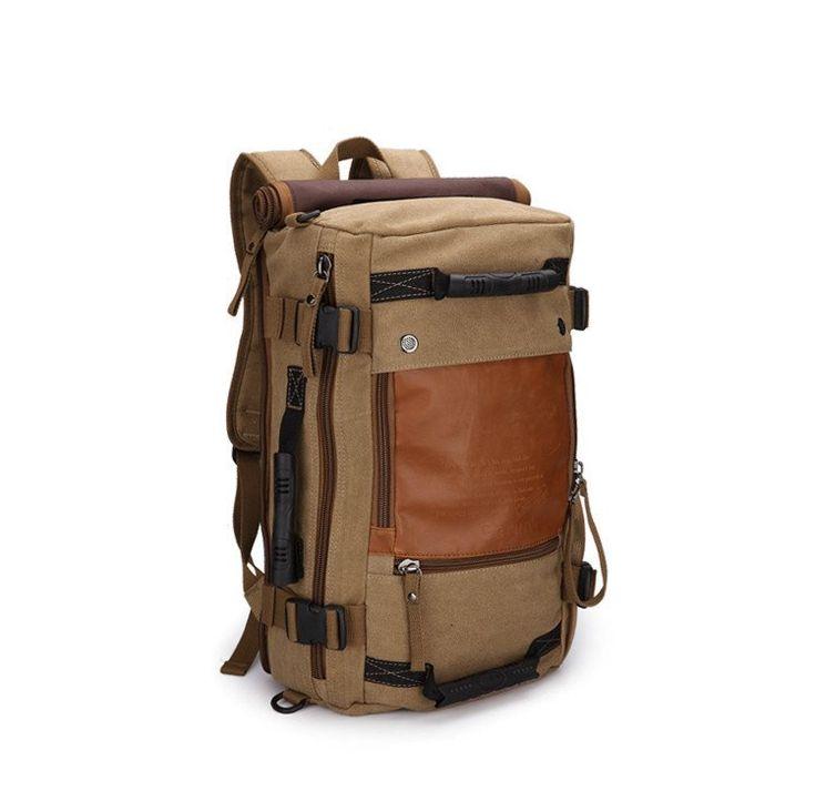 Mens Canvas leather shoulder bag,case carry or backpack options... (GR-9701)...