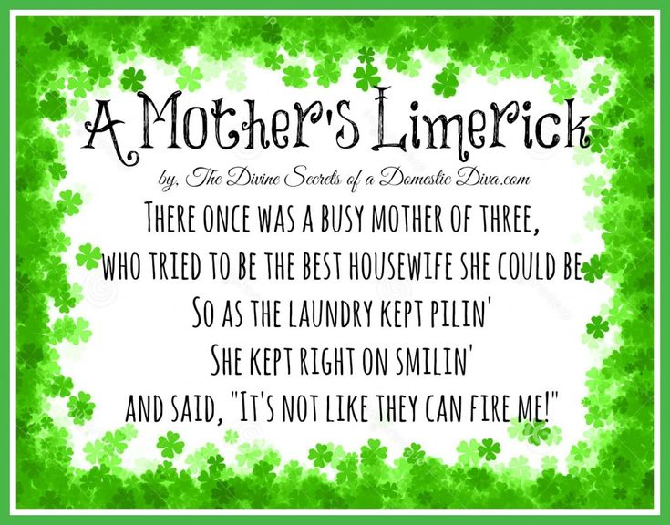 I Hate My Mom Poem: A Mother's Limerick In Honor Of St. Patrick's Day