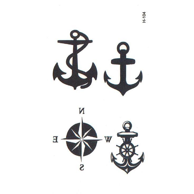 [Visit to Buy] anchor temporary body arts flash tattoo compass temporary tattoos men tatouage temporaire henna tattoo tatuajes temporales tatoo #Advertisement