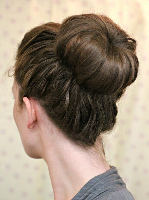 8 Easy and Cute Hairstyles for Lazy Girls: Sock Bun  #hairstyles #hairstyletutorials
