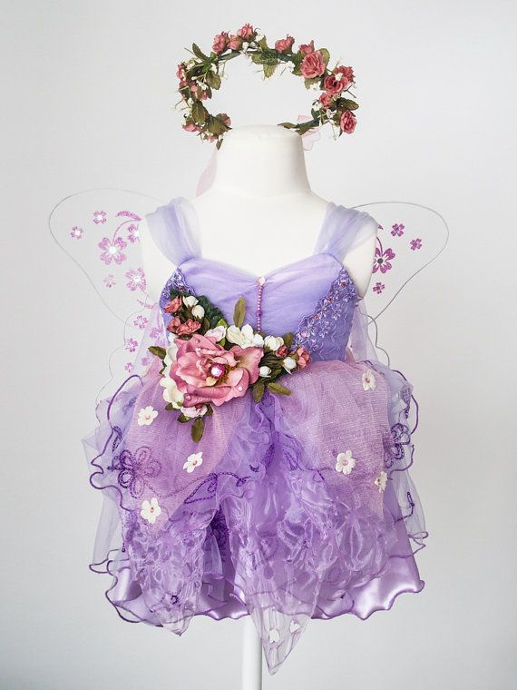 Deluxe Child Fairy Costume Sweetheart Rose by TinkersPennyBoutique on Etsy