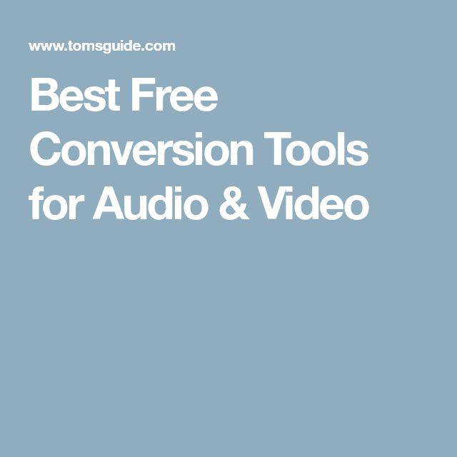 Best Free Conversion Tools for Audio & Video