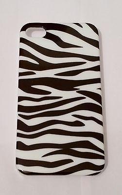 Brand New Hard Back Case Cover - iPhone 4/4s Stripe Zebra Pattern Black/White phone case
