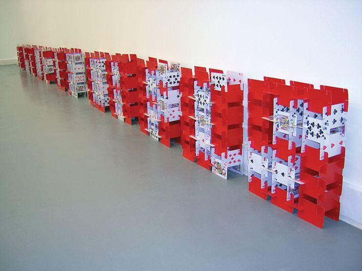 Paz Carvajal | House of Cards, Cartas de naipes / playing cards, 2004