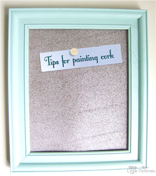 ~Tips for spray painting a cork board~ One tip not listed is: Do not use Latex spray paint, this will just create a weird skin that will peel off easily.