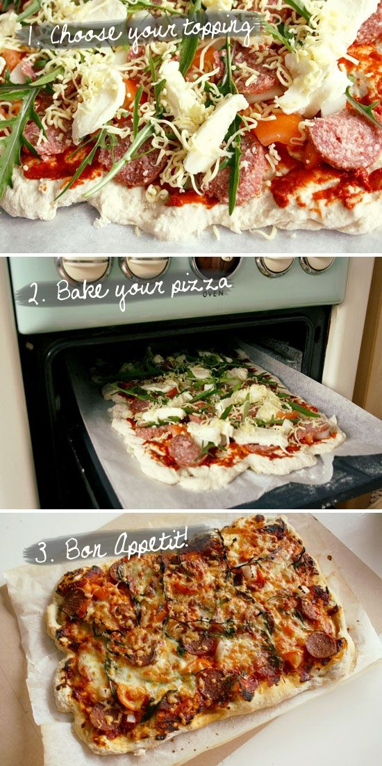 Pizza! With the best pizza dough recipe.