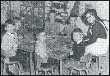 Kleuterschool eind jaren zestig
