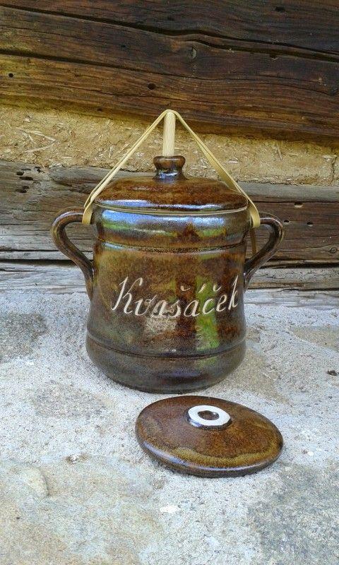 Kvašáček na zeleninu Pickles keramika kamenina vysoký chlumec kvašáček minikvašáček kvašák pickles kvašená zelenina rychlokvašení