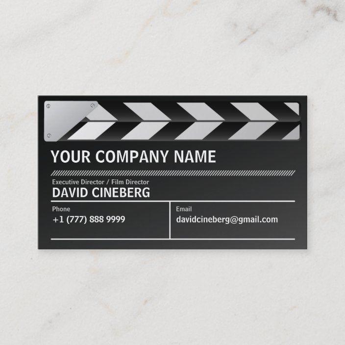 Film Director Executive Producer Business Card Zazzle Com In 2021 Film Director Business Cards Business Cards Simple