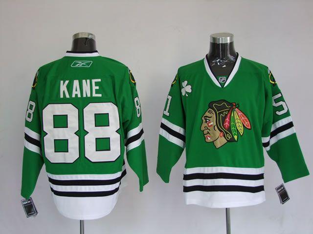 Reebok NHL Jerseys Chicago Blackhawks Patrick Kane #88 Green