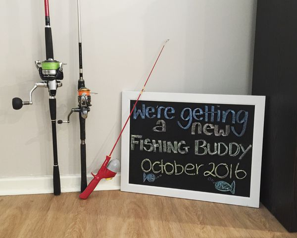 We're getting a new fishing buddy - pregnancy announcement idea. #inspiration…