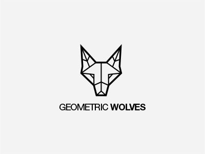 """Logo (Typography + icon)  I really like this logo. I think the sharp lines of the wolf mimics the font choose. The slightly bolder outline of the wolf also mimics the bold """"Wolves"""""""