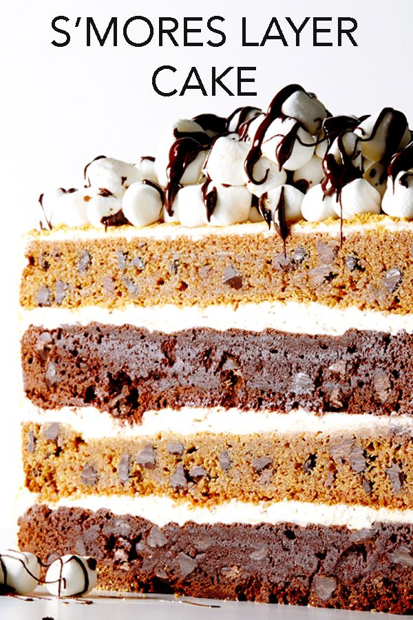 Looking for a crowd-pleasing cake? You've found it with this scrumptious S'Mores Layer Cake recipe, layers of chocolate, graham and toasted marshmallow frosting.