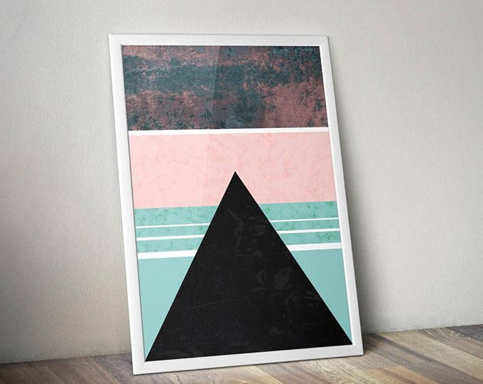 Time to decorate! - Illustrated Art Print by Genesis Alvarez of Gabellare.  Abstract Landscape Prints | Poster | Abstract Prints | Landscape Prints | Geometric Print | Posters and Prints | Poster Art Prints