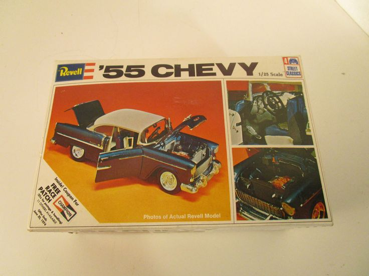 Vintage Revell '55 Chevy Model Kit 1973 1/25 scale H-1374:225 #Revell #chevy