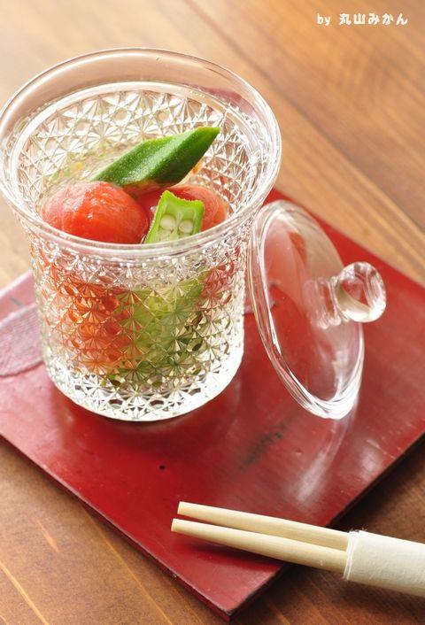ズボラ向け☆プチトマトとおくらの酢の物♪ 酢の物の簡単おしゃれレシピ