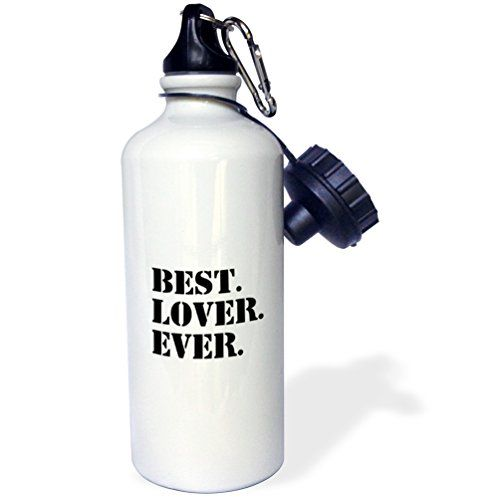 3dRose wb_151523_1 Best Lover Everfun humorous romantic love gifts for anniversary or Valentines dayfunny humor Sports Water Bottle 21 oz White ** Be sure to check out this awesome product.