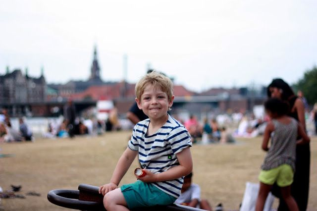 Copenhagen Kiddo: Aftentur med is og vin på Bryggen Islands Brygge Copenhagen