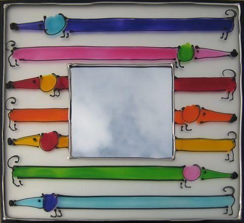 Sophie Lanham - Handpainted mirrors - Handgeschilderde spiegels - Geboorte Spiegels