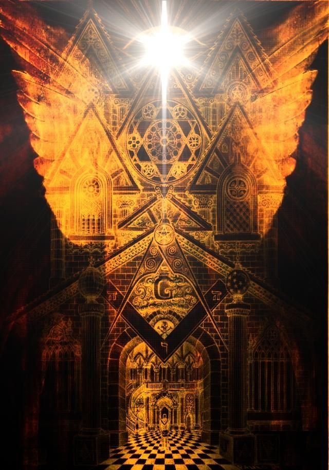 masonic tattoos   Masonic Cathedral Revisted by Paulo Cunha