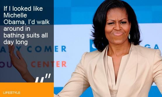 Michelle Obama Bikini | Michelle Obama stepped onto the world stage a fully formed fashion ...