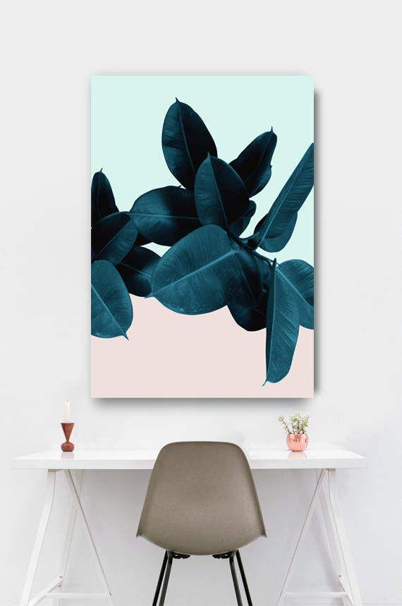 Bladeren Print tropische afdrukbare kunst tropische blad