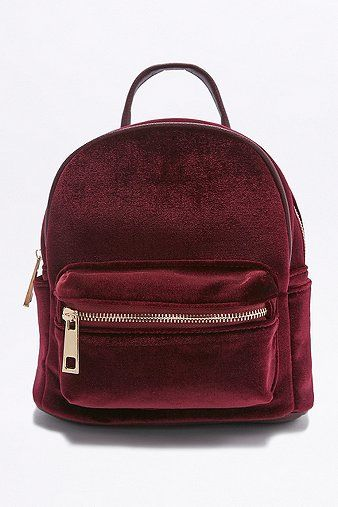 Velvet Mini Backpack // I'm really starting to like all these velvet things.
