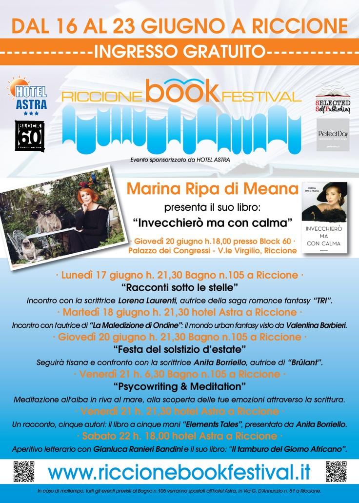 #Riccione: Locandina ufficiale Riccione Book Festival. Autori #self, mare e divertimento -ingresso libero!- http://www.riccionebookfestival.it/