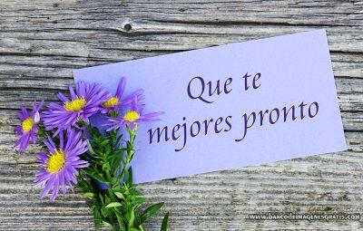 BANCO DE IMÁGENES: Que te mejores pronto - Mensaje con Flores para co...