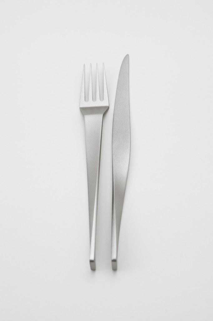 """Frederik Delbart / """"MUSE"""" for Eternum & Dialogue / cutlery / 2013. Picture by Julien Hayard."""