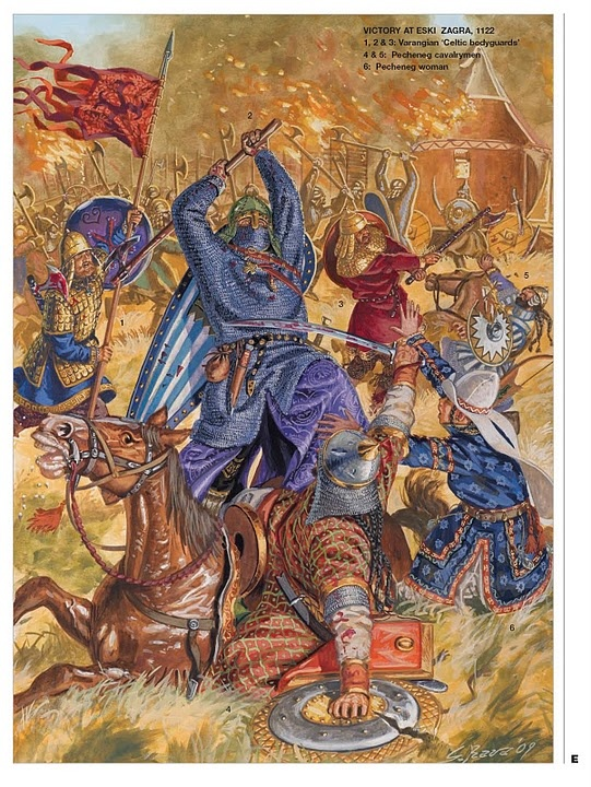 Victory of the Varangian Rus over the Pechenegs at Eski Zagra, by Giuseppe Rava, 1122